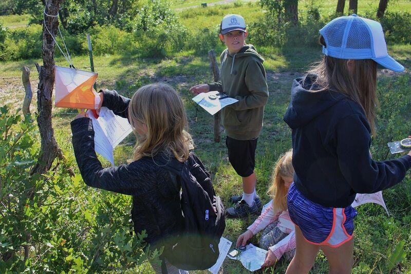 Kids enjoying orienteering field day